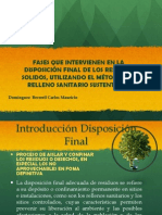 Fases Disposicion Final de Rsu.