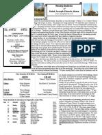 St. Joseph's September 23, 2012 Bulletin