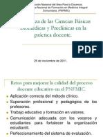 PNFMIC, Enseñanza de las Ciencias Básicas Biomédicas y Preclínicas en la práctica docente