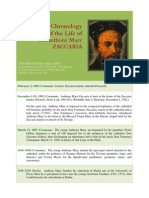 Essential Chronology of The Life of St. Anthony Mary Zaccaria 1502-1539