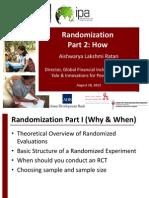 G. Lecture 4b Randomization How