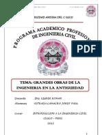 Informe de Grandes Obras de La Ingenieria Antigua