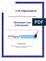 Bob Taylor - Jazz Improvisation - Book - 200 Standards - Bb