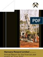 Hannans Annual Report 2007
