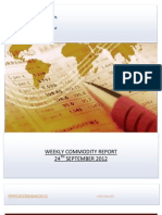 WEEKLY COMMODITY REPORT BY EPIC RESEARCH-24 SEPTEMBER 2012