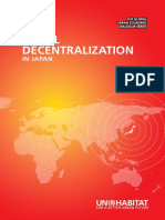 Fiscal Decentralisation in Japan