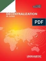 Fiscal Decentralisation in Japan