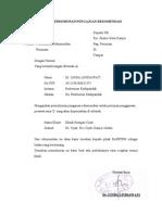 Surat Permohonan Pengajuan Rekomendasi