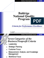 2010 Criteria for Performance Excellence