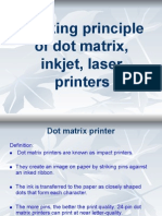 Working Principle of Dot Matrix Inkjet Laser Printers