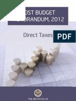 Post Budget Memorandum(ICAI)