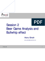 Beer Game Analysis and Bullwhip Effect