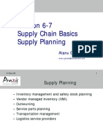 Supply Chain Basics Supply Planning