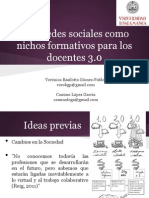 Las redes sociales como nichos formativos para los docentes 3.0