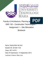 Construction Technology Brickwork