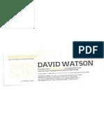 David Watson sur websynradio