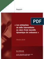 Les entreprises de taille intermédiaire au coeur d'une nouvelle dynamique de croissance - Rapport Retailleau