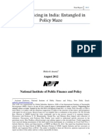 Diesel Price Refom by The National Institute of Public Finance and Policy (NIPFP)
