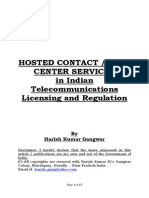 Hosted Contact / Call Center Services in Indian Telecommunications Licensing and Regulation
