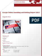 Brochure & Order Form_Europe Online Gambling and Betting Report 2012_by yStats.com