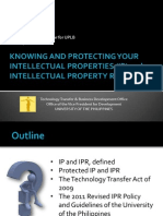 Knowing and Protecting Your Intellectual Properties and Intellectual Property Rights