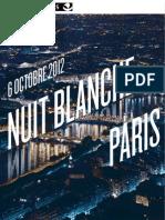 Nuit Blanche 2012 - dossier de presse