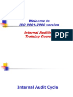 internal Auditing as ISO 1900:2000