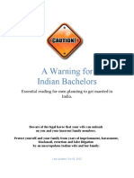 Warning for Indian Bachelors