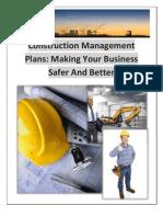 Construction Management Plans