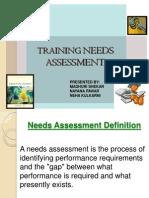 Training Needs Assesment Ppt
