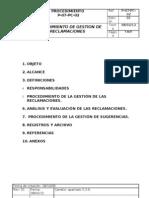 PLAN DE GESTIÓN DE RECLAMACIONES