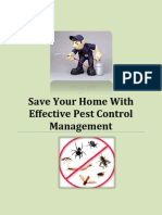 Save Your Home With Effective Pest Control Management