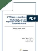 """""""Hollande l'Africain"""" ? La politique africaine de la France à la croisée des chemins"""