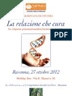 """SIPNEI """"La Relazione Che Cura"""" 27 Ottobre 2012"""