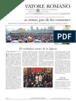 L´OSSERVATORE ROMANO. 23 Septiembre 2012