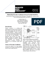 Eliminating Oscillation Between Parallel Mnosfets