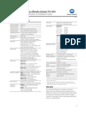 bizhub 751 601 spec and install guide windows xp  dsl hook up diagram with bizhub #1