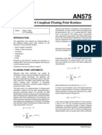 An - IEEE 754 Compliant Floating Point Routines