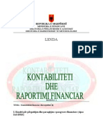 Kontabilitet Dhe Raportim Financiar 2008-09