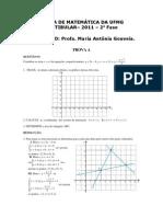 Resolucao Matematica Vestibular Ufmg 2011 2aetapa 01