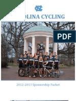 Carolina Cycling Sponsorship Packet 2012-2013