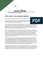The Arctic - Last Energy Frontier - Holland & Gardner