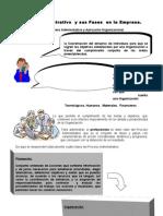 Proceso Administrativo y Sus Fases en La Empresa