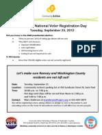 National Voter Registration Day Flyer