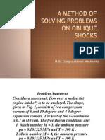 Supersonic Flow Over a Wedge(Oblique Shock Problem)