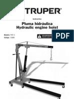 Pluma hidraulica