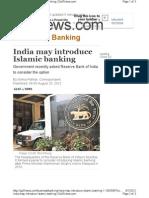 India May Introduce Islami