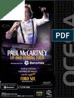 Ocesa Paulmaccartney Concierto Poster