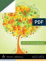 91816248 Faith Alive 2012 2013 Resource Catalog
