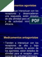 FARMACO 2. Receptores, agonismo antagonismo, bases de farmacocinética